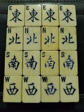 16 Thick Bone Bamboo Mah Jong Jongg Tiles