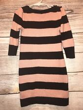 Baby Gap Girls Size (S) 6/7 years Stripped Sweater Dress EUC