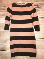 Baby Gap GirlsSize (S) 6/7 years Stripped Sweater Dress EUC