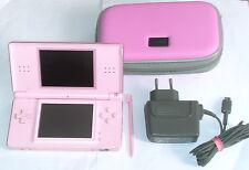 Original NINTENDO DS LITE KONSOLE rosa Pink + Ladekabel + Schutztasche