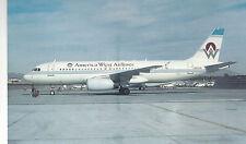 American West  Airbus A320-231   Phoenix Sky Harbor AZ  Unused PC 984 Plane