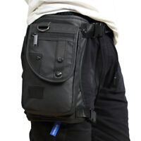 Men Motorcycle Outdoor Drop Leg Bag Tactical Hiking Thigh Waist Fanny Pack Pouch