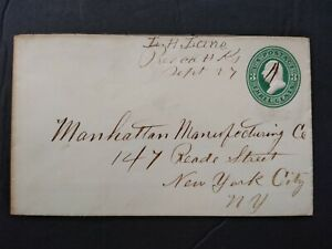 Kansas: Prescott 1870s 3c Entire Cover, Ms + L.H. Lane (Postmaster)