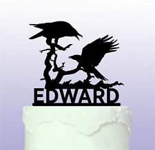 Personalised Raven Birds Cake Topper