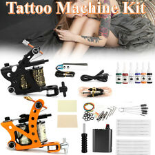 Complet Kit Tatouage 2 Machine Gun à Tatouer Encre Ink Power Supply Tattoo