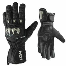 LDM Corsa X1 Motorcycle Gloves Black Armoured Leather Motorbike Gloves