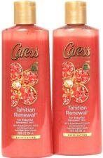 2 Caress 12 Oz Tahitian Renewal Pomegranate Coconut Milk Exfoliating Body Wash