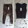 Cartel & Willow NWT Outfit Zebra Kenji Comeback Pants S Ace Black Top Casual