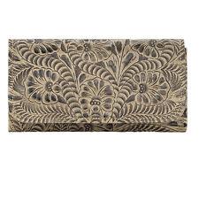 American West Leather Ladies' Tri-Fold French WalletSanta Barbara Sand
