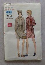 Vintage Vogue Pattern #7775 - Shirt-Dress w/Tie Belt - Misses 16 - Uncut