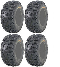 Four 4 Kenda Bearclaw HTR ATV Tires Set 2 Front 25x8-12 & 2 Rear 25x10-12 K587