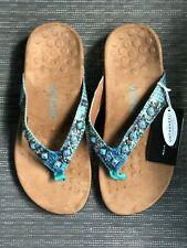 Women's Vionic Sandals Turquoise Blue Size 7 Wide Orthaheel