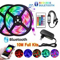 10M 3528 RGB LED Strip Lights + Bluetooth / IR Remote Control+12V Power full Kit