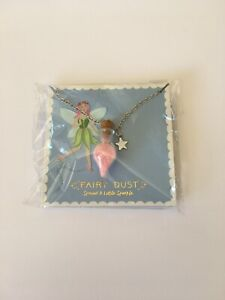 FAIRY DUST NECKLACE WITH PINK FAIRY DUST. SPREAD A LITTLE SPARKLE CGB***