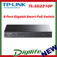 TP-Link TL-SG2210P 8-Port Gigabit Smart PoE Switch with 2 SFP Slots