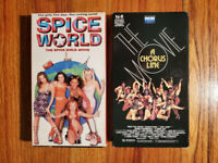 (Lot2) Spice World 97 A Chorus Line 85 VHS RARE HTF OOP Comedy Drama Musical