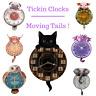 Tickin' Clocks - Moving Tails ! - Dragon Pig Elephant Pug Owl Highland Cow Cat