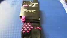 Zoot TT quarter triathlon run running socks size L large black/pink BNWT