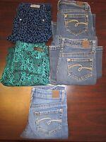 Girls Jeans Justice Brand Denim Bootcut Jean Size 12 Regular EUC