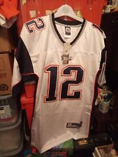 New England Patriots White NFL Shirt Jersey #12 Tom Brady Size 50 Large