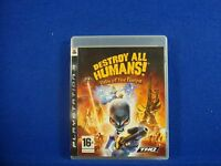 ps3 DESTROY ALL HUMANS! Path Of The Furon Alien Destruction Game Playstation PAL