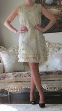 RED VALENTINO Lace/Tulle,Embroidery Sequin,Ruffles Dress It 46,US 10-12/L-XL