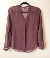 Ann Taylor Women's Top Blouse Size 2 Office Career Multicolor Long Sleeves
