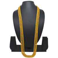 """Indian 36"""" Long Bokul Chain Mala Gold Plated Necklace Casual Party Ware Jewelry"""
