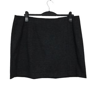 Marks & Spencer Plus Size 20 EUR 48 Grey Elasticated Waist Stretch Mini Skirt