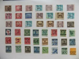 U S   Collection of all used PRECANCEL DEFINITIVES -7-21-D-We combine shipping