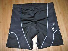 CW-X CWX Shorts Size LARGE ( 34 Waist ) Polyester Spandex Tri TRIATHLON Black