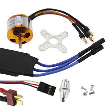 2200KV Brushless Motor 2212-6 + 40A ESC + Free Mount for RC Helicopter