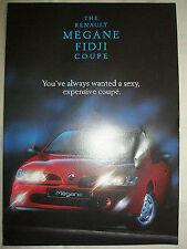 Renault Megane Fidji COUPE FOLLETO diciembre de 1996