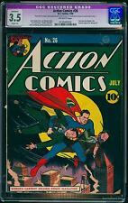 Action Comics #26 CGC VG- 3.5 Off-White   DC Superman