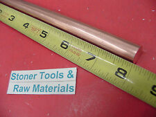 """1/2"""" C110 COPPER ROUND ROD 8"""" long H04 Solid .50"""" OD CU New Lathe Bar Stock"""