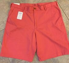 IZOD Mens Size 36 Saltwater Relaxed Classic Stretch Casual Shorts Flat Front
