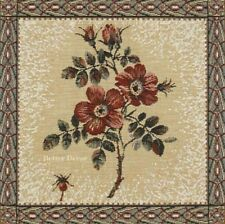 SET OF 4 TAPESTRY TABLE NAPKINS Wild Rose EUROPEAN PLACE MAT ACCENT DECOR