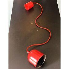 Techo Luz Colgante Cable de suspensión la lámpara E27 Rojo