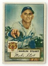 1952 Topps Baseball Card • Marlin Stuart • #208