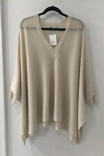 NWT $395 Vince Cream Wool/cashmere Poncho Oversized Sweater M/L