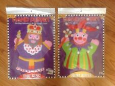 Lot 2 Alex Hand Puppets The King & The Court Jester Adventures in the Court New