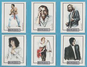 Original cigarette/trade cards - BRITISH ROCK & ROLL LEGENDS - Full mint set