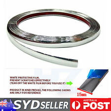 10M x 15mm Car Window Mouldings Chrome Silver Trim Roof Edging Decals Adhesive