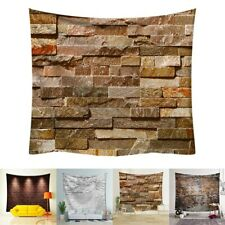 Tapestry 3D Bricks Pattern Tapestry Wall Hangings Decor Beach Towel Curtain New