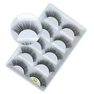 NEW 5Pair 3D Mink False Eyelashes Wispy Cross Long Thick Soft Fake Eye Lashes830