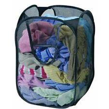 Foldable Pop Up Laundry Basket Storage Mesh Bag Washing Clothes Bin Color Random