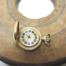 Reich decorada Dugena Classic reloj de bolsillo anhängeuhr mecánicamente aprox. 2,5 x 0,8 cm