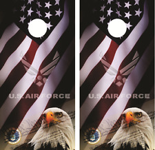 U.S. Air Force American Eagle Cornhole Board Skin Wrap Decal Set with Lamination