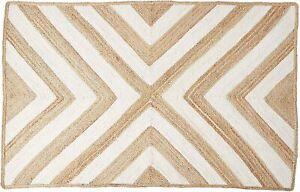 Rug 100% Natural Jute Reversible Handmade Runner Rug Area carpet home decor rugs