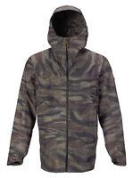 BURTON Men's PACKRITE Gore-Tex Shell Jacket - OliveGreenWornTiger - Large - NWT